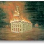 Nauvoo Temple burning