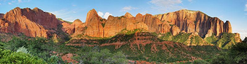 A panorama of Kolob Canyon