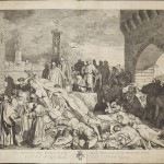 Boccaccio's depiction of the Plague, depicted