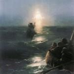 Aivazovksky painting of Jesus walking on Galilee