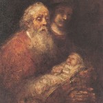 Rembrandt painting of Simeon and the infant Jesus