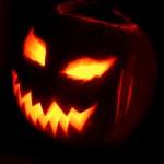Evil-looking pumpkin