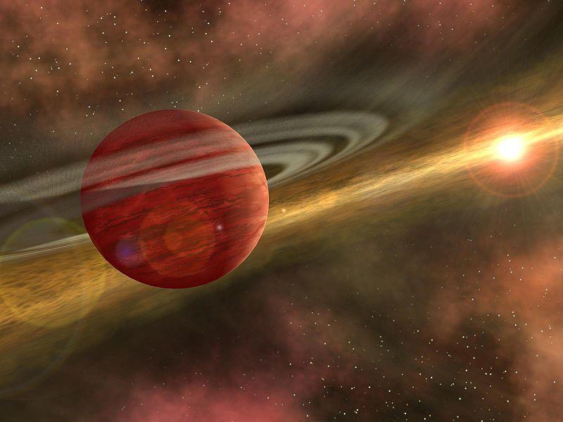 A newborn planet in its nursery