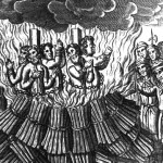 Heretics being burned.
