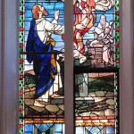Elijah in stained glass