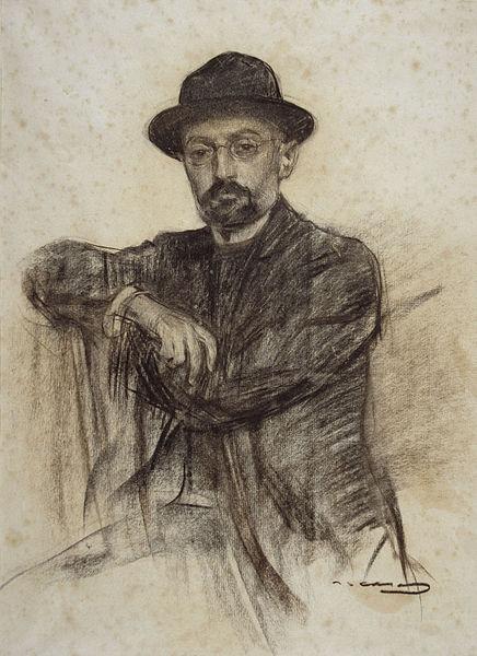 Casas sketch of Unamuno