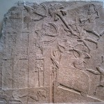Assyrian wall relief of siege