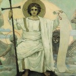 Vasnetzov, Jesus w/images of four evangelists