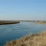 The peaceful Euphrates River