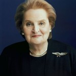 California college students object to Madeleine Albright as white war criminal