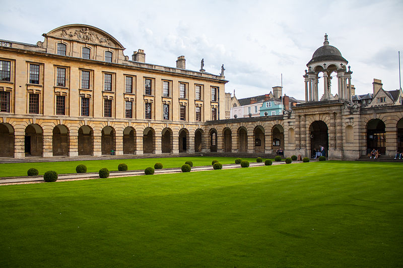 A lawn at the Queen's College, University of Oxford