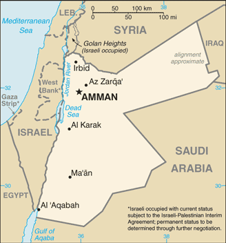 Jordanian map (CIA)