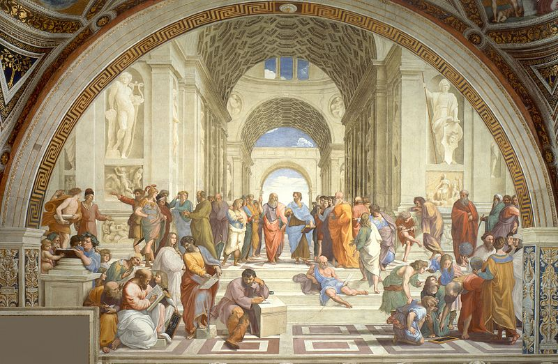 A nice illustration of Plato and Aristotle by Raphael