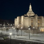 Inside the newly completed Sapporo Japan Temple