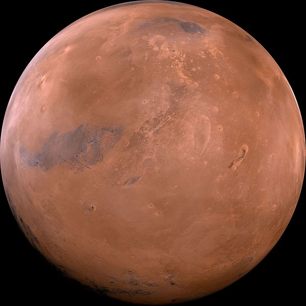 A composite image of the Planet Mars