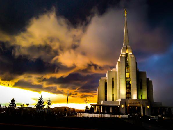 The temple in Rexburg, Idaho, near BYU-I