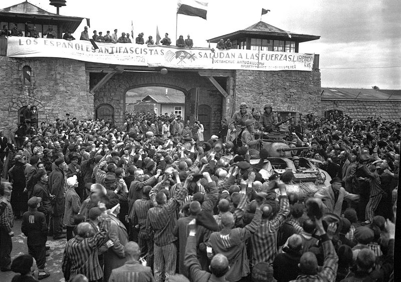 The liberation of Mauthausen in May of 1945