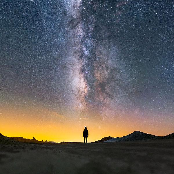 Mojave Desert and Milky Way