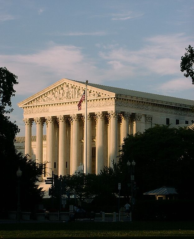 SCOTUS Bldg. in twilight