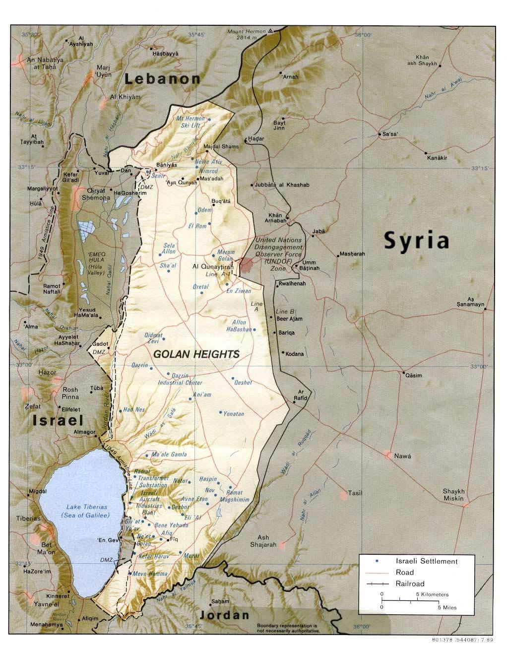 Ramat Ha-Golan map