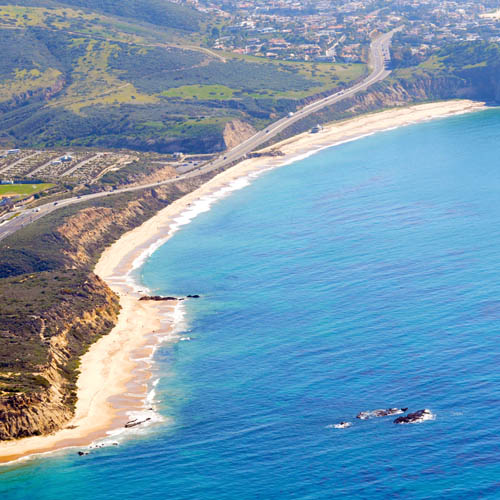 Crystal Cove from the air