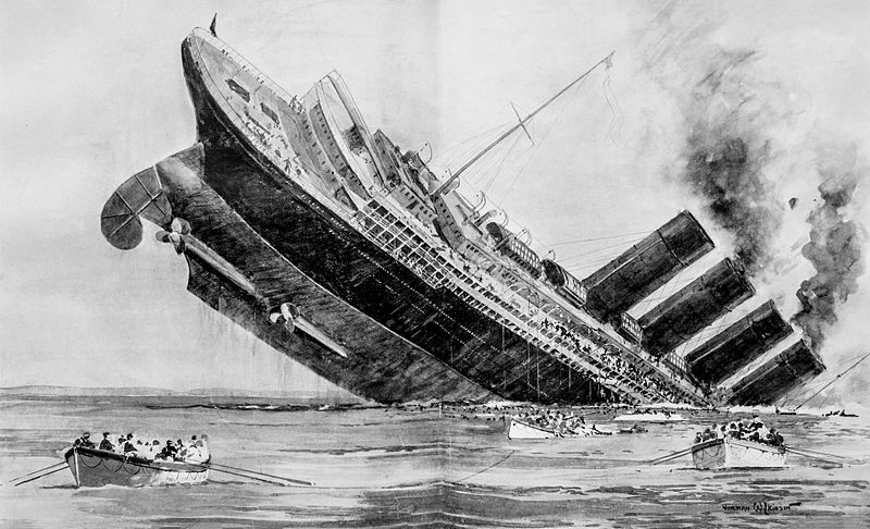Lusitania, sinking