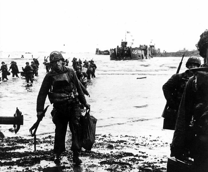 On 6 June 1944 at Utah Beach