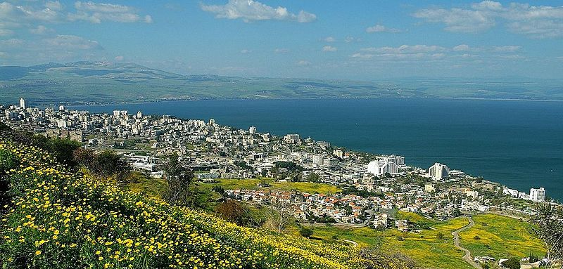 Tiberias from above