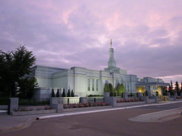 Another view of the Alberta's northernmost temple