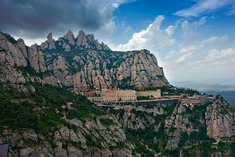 The monastery at Montserrat