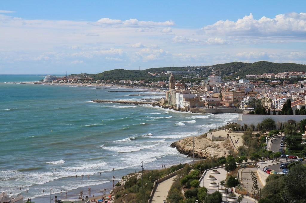 A view of Sitges, en Catalunya