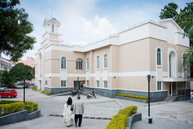 An LDS meetinghouse in India