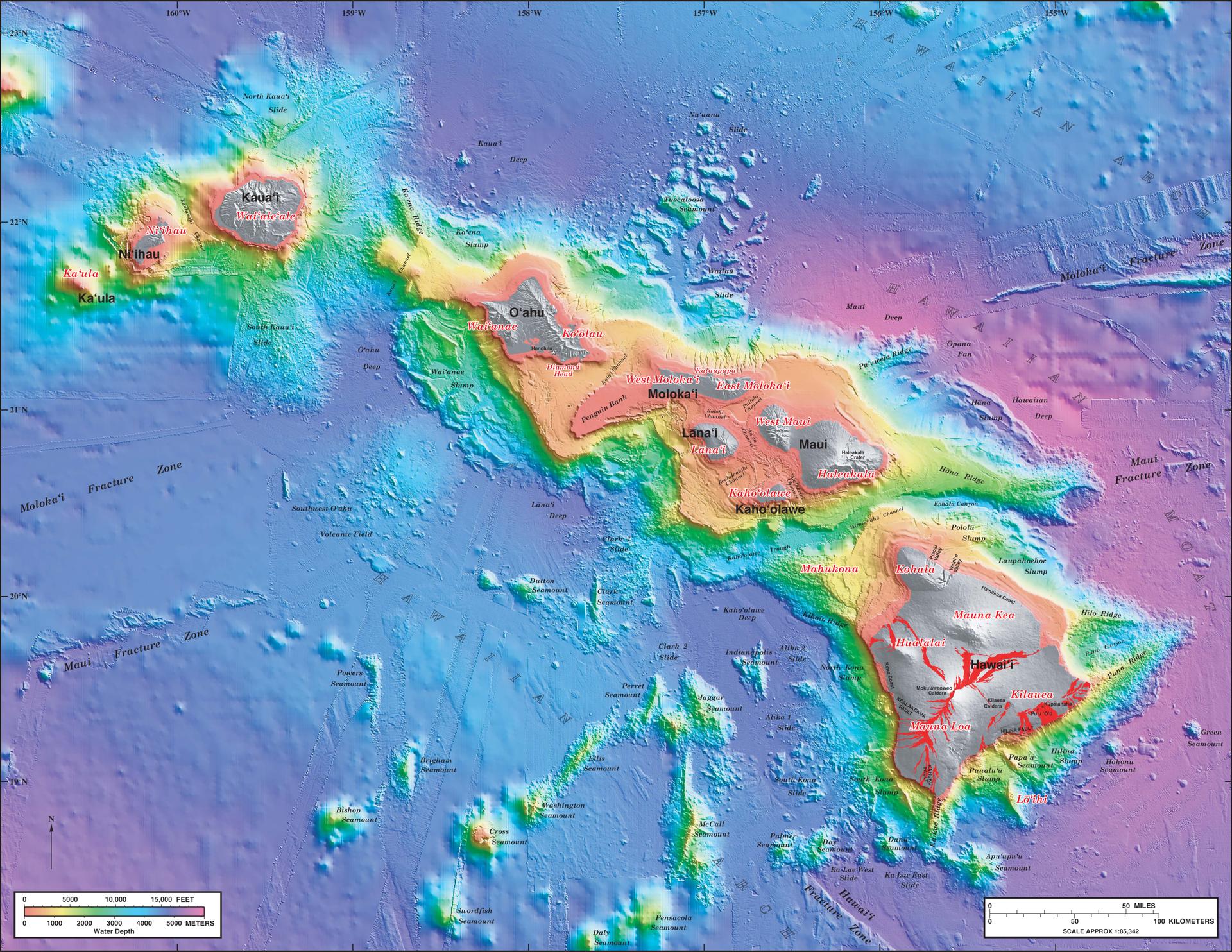 The Hawaiian Islands -- geology