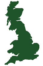The UK, in green.