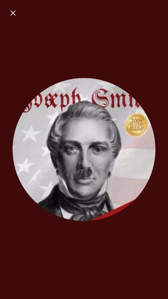Joseph Smith with Hitler mustache
