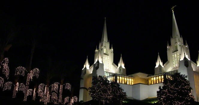 The LDS temple in San Diego