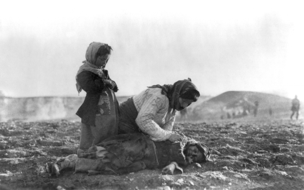 A scene from the Armenian genocide