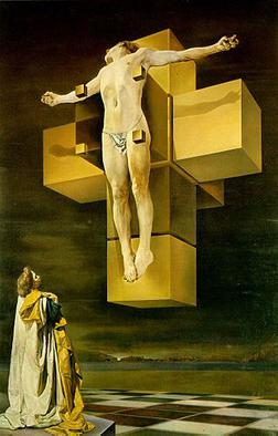 Dali's image of the crucifixion
