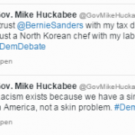 In under 4-minutes Mike Huckabee says racism isn't about race and then says something racist