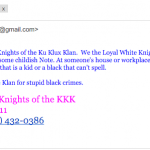 Costume wearing KKK claims they are not childish in email to me