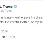 Is Donald Trump encouraging violence against Bernie Sanders supporters?