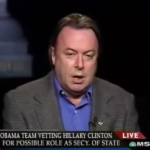 Christopher Hitchens was not a fan of Hillary Clinton