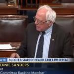Bernie Sanders trolled Donald Trump on the senate floor
