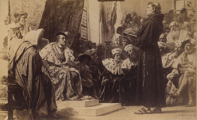 catholic church vs martin luther Martin luther sparks the reformation by complaining against indulgences, which  were documents issued by the catholic church that allowed,.