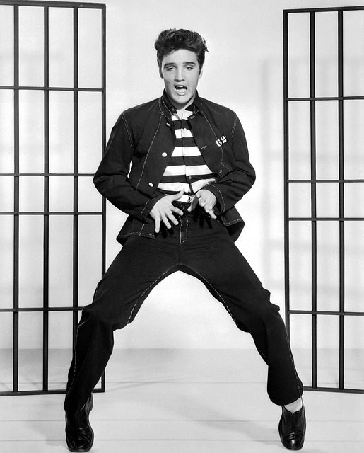 Jailhouse Rock Singer Elvis Presley Vintage