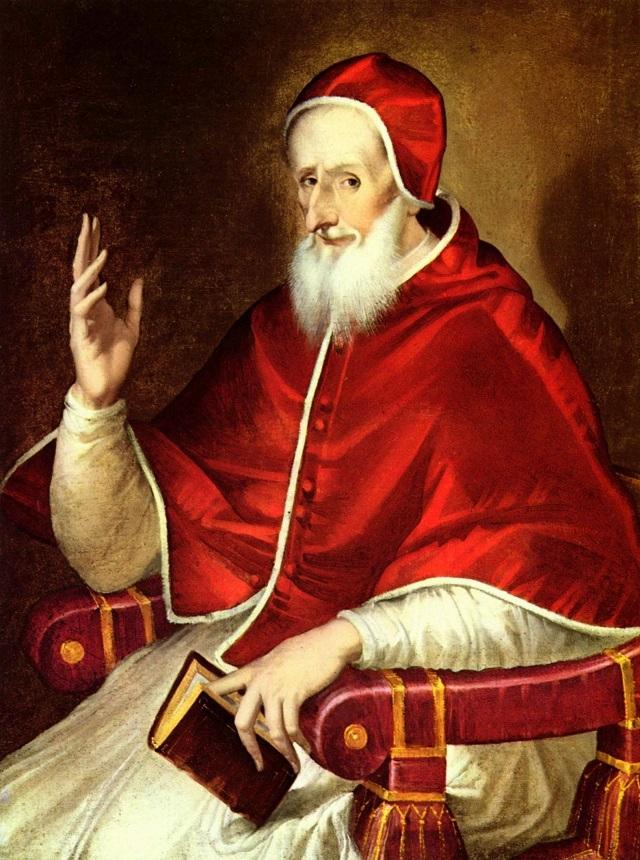 Den hellige pave Pius V malt av El Greco