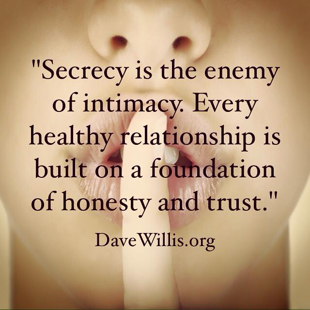 Dave Willis marriage quote quotes secrecy secrets