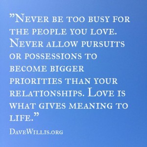 Dave Willis love quote