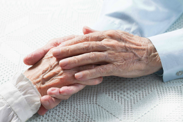 old couples hands