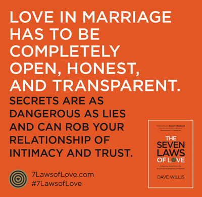7 laws of love book quote marriage honest Dave Willis